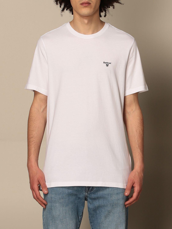 T-shirt Barbour: T-shirt Barbour in cotone con dettaglio logo bianco 1