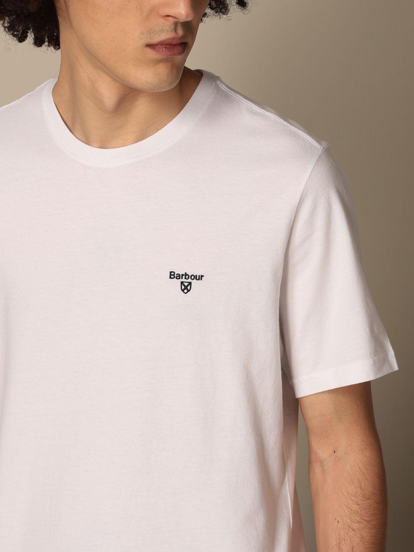 T-shirt Barbour: T-shirt Barbour in cotone con dettaglio logo bianco 3