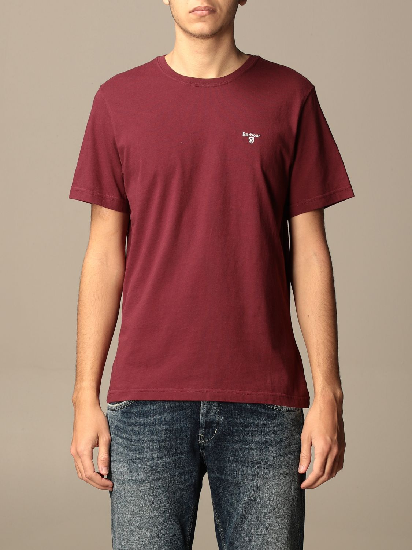 T-shirt Barbour: T-shirt men Barbour burgundy 1