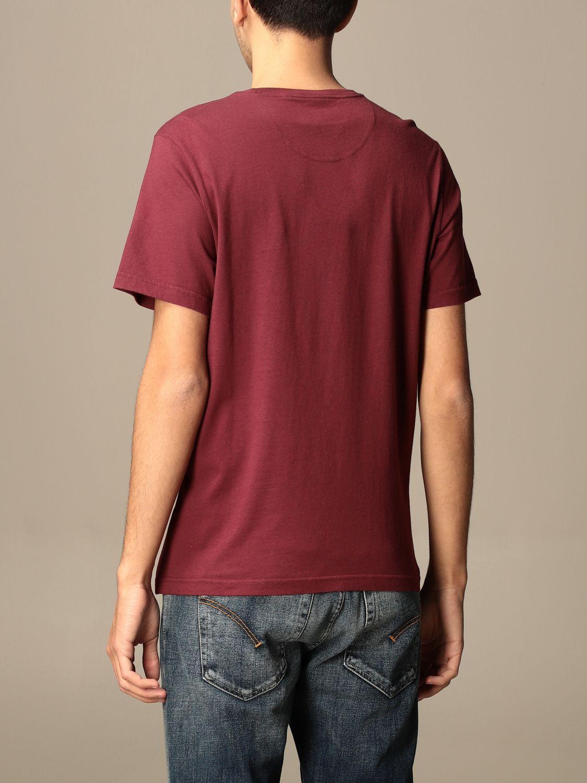 T-shirt Barbour: T-shirt men Barbour burgundy 2