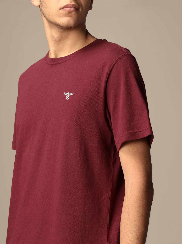 T-shirt Barbour: T-shirt men Barbour burgundy 3