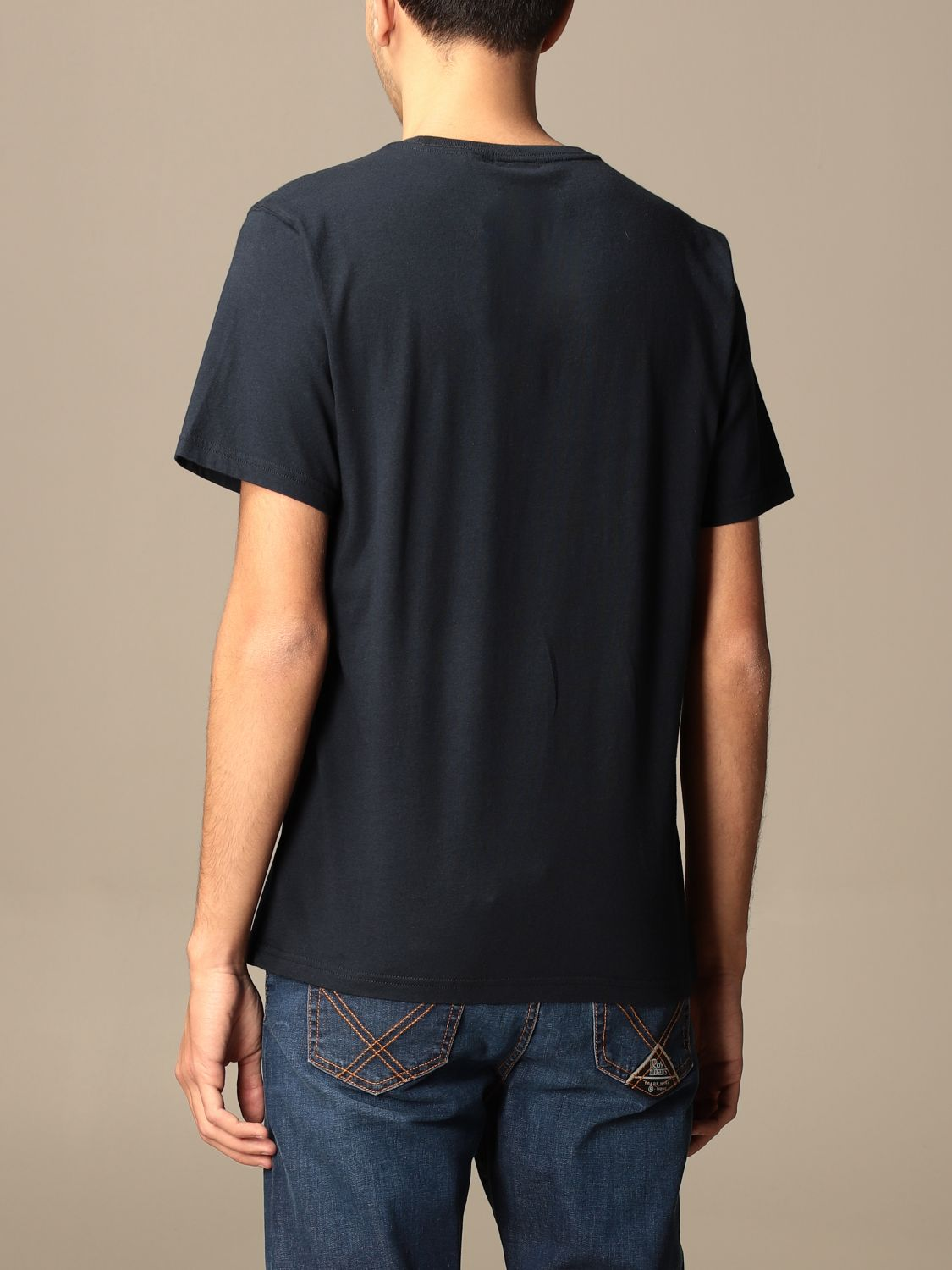 T-shirt Barbour: T-shirt Barbour in cotone con stampa blue navy 2