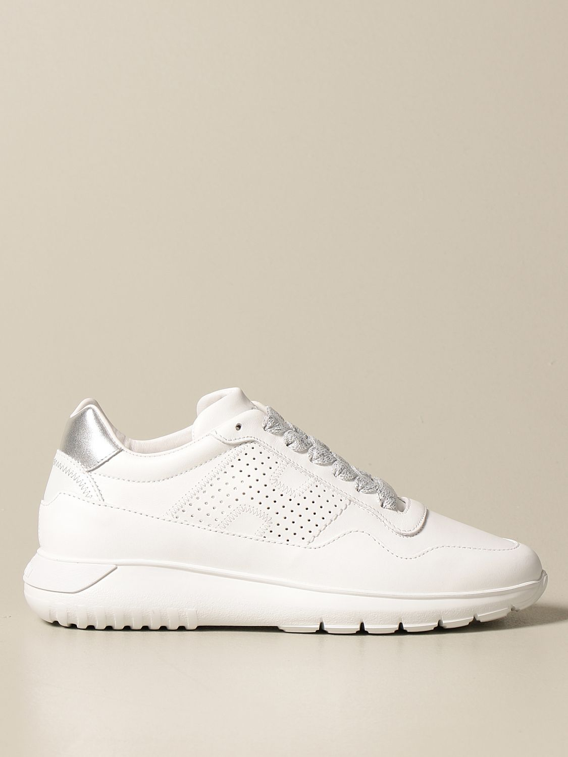 Interactive 3 Hogan sneakers in leather with perforated H