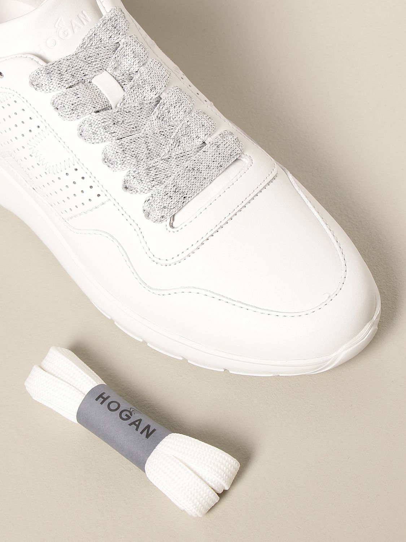Sneakers Interactive 3 Hogan in pelle con H traforata