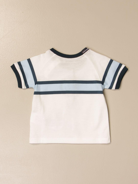 T-shirt Dolce & Gabbana: T-shirt Dolce & Gabbana in cotone con logo panna 2