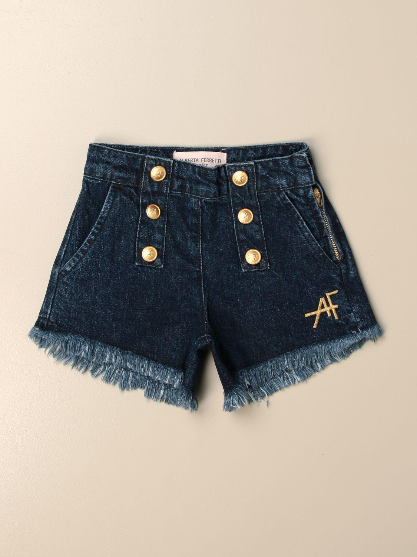 Pantalones cortos Alberta Ferretti Junior: Pantalones cortos niños Alberta Ferretti Junior denim 1