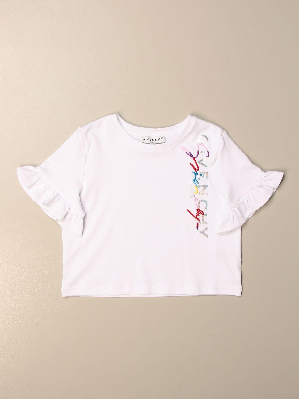 T-shirt Givenchy: T-shirt Givenchy in cotone con logo bianco 1