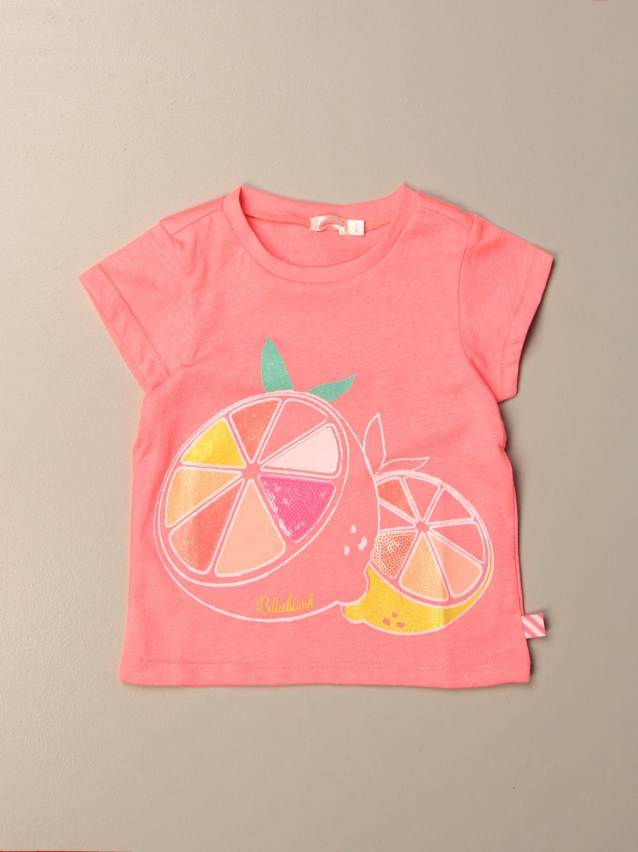 Camisetas Billieblush: Camisetas niños Billieblush fucsia 1