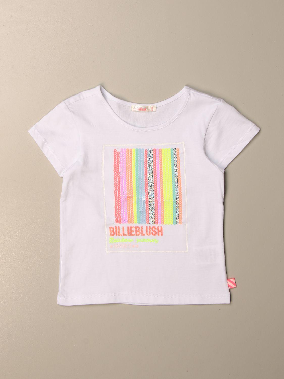 Camisetas Billieblush: Camisetas niños Billieblush blanco 1