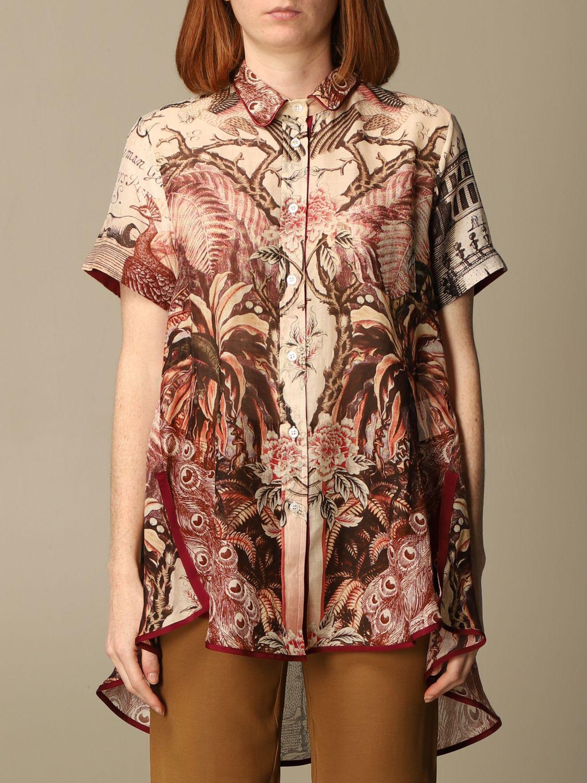 Shirt F.r.s For Restless Sleepers: Shirt women F.r.s For Restless Sleepers burgundy 1
