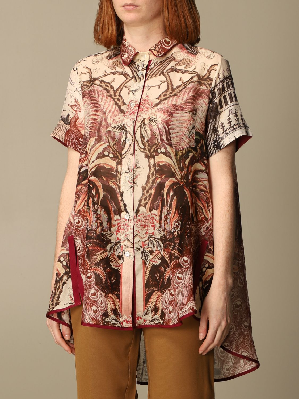 Shirt F.r.s For Restless Sleepers: Shirt women F.r.s For Restless Sleepers burgundy 3