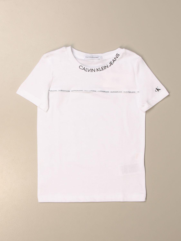 Camiseta Calvin Klein: Camiseta niños Calvin Klein blanco 1