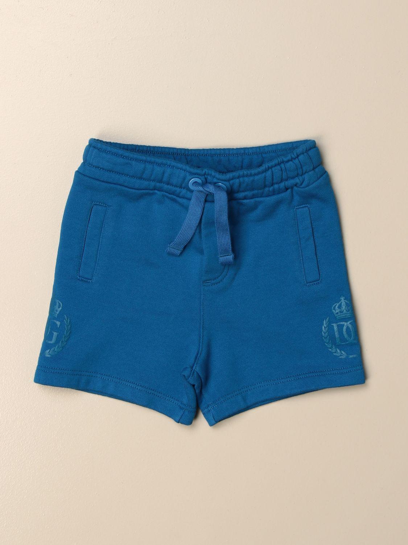Shorts Dolce & Gabbana: Dolce & Gabbana cotton jogging shorts turquoise 1