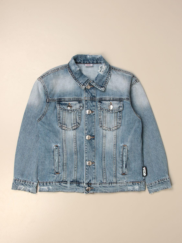 Jacket Gcds: Gcds denim jacket with back logo denim 1