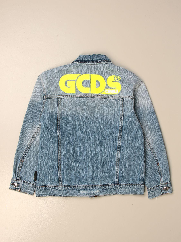 Jacket Gcds: Gcds denim jacket with back logo denim 2