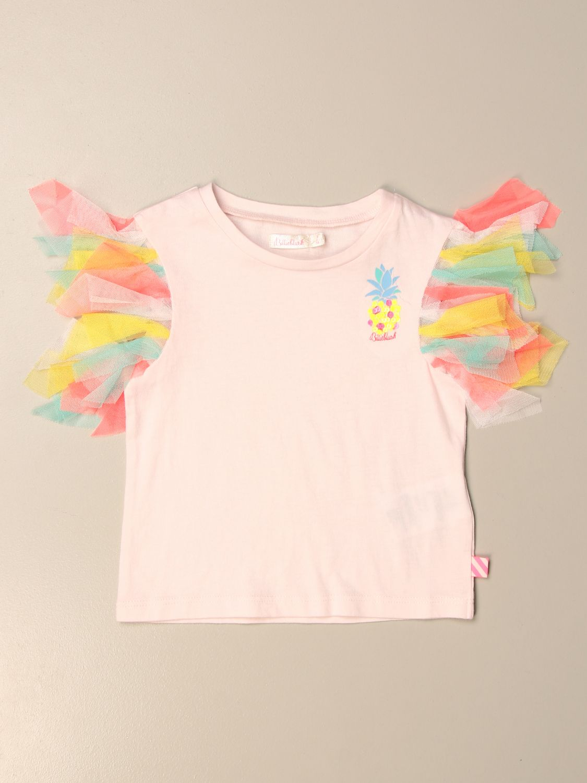 Camisetas Billieblush: Camisetas niños Billieblush rosa 1