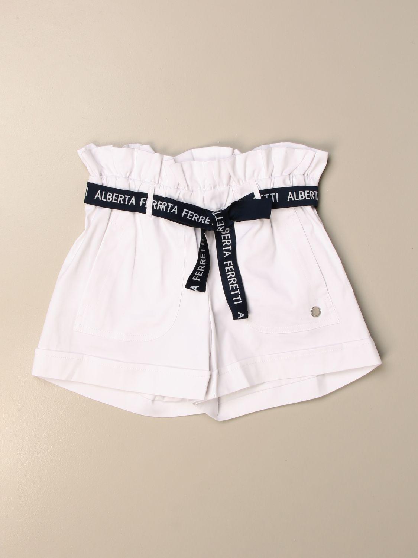Pantalones cortos Alberta Ferretti Junior: Pantalones cortos niños Alberta Ferretti Junior blanco 1