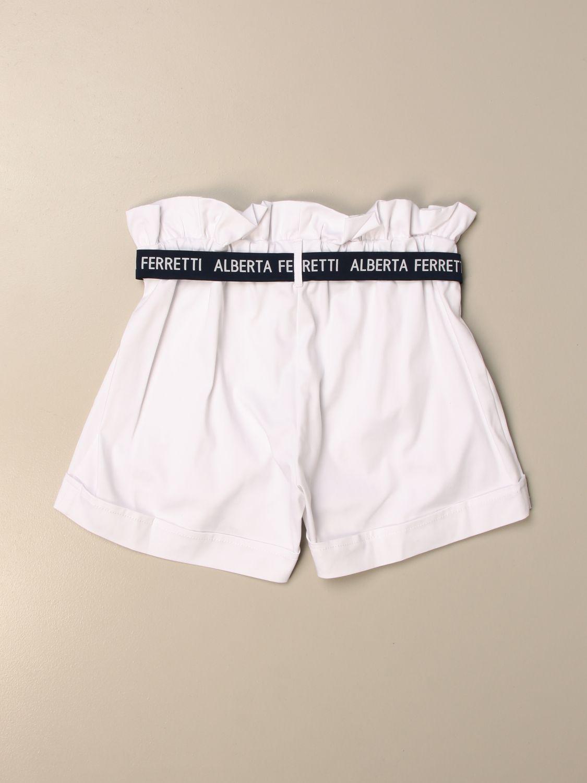 Pantalones cortos Alberta Ferretti Junior: Pantalones cortos niños Alberta Ferretti Junior blanco 2