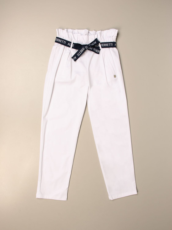 Pantalón Alberta Ferretti Junior: Pantalón niños Alberta Ferretti Junior blanco 1