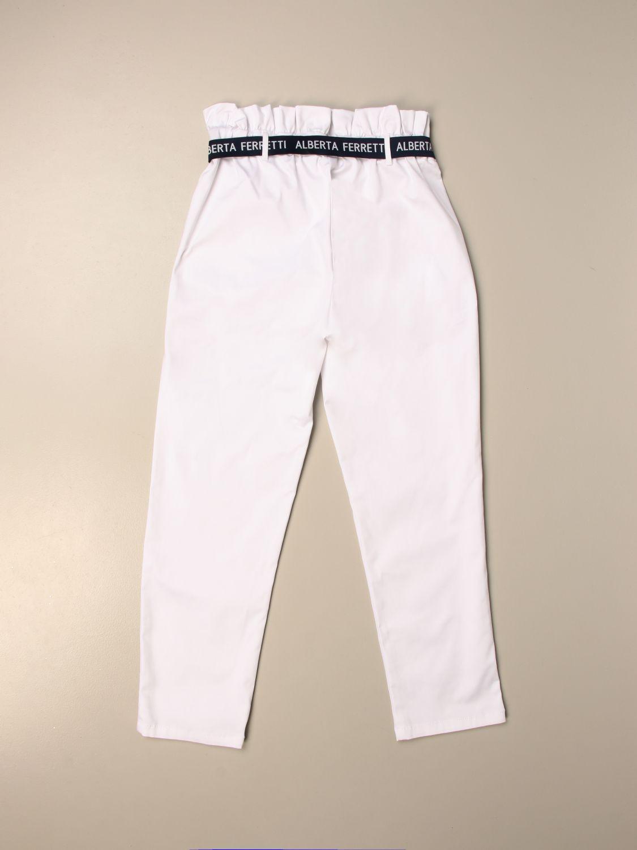 Pantalón Alberta Ferretti Junior: Pantalón niños Alberta Ferretti Junior blanco 2