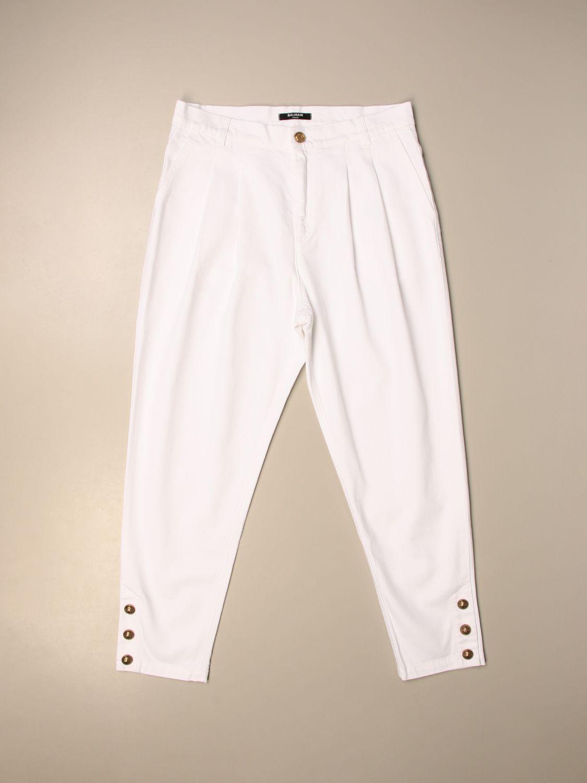 Pantalón Balmain: Pantalón niños Balmain blanco 1 1