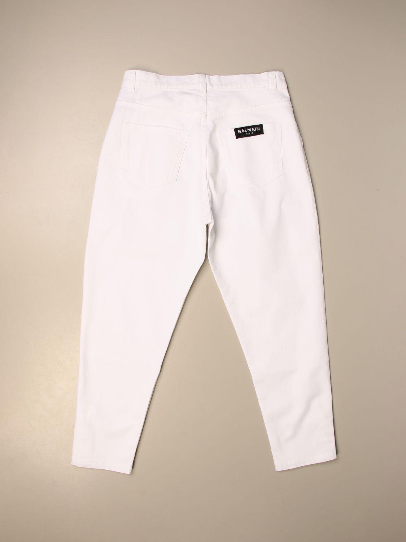 Pantalón Balmain: Pantalón niños Balmain blanco 1 2