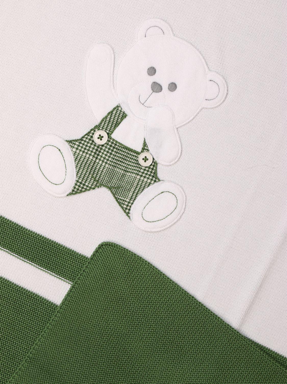 Manta Colori Chiari: Manta niños Colori Chiari verde 2