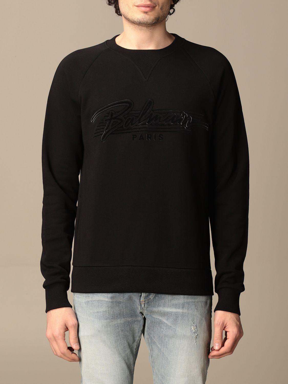 Sweatshirt Balmain: Sweatshirt homme Balmain noir 1