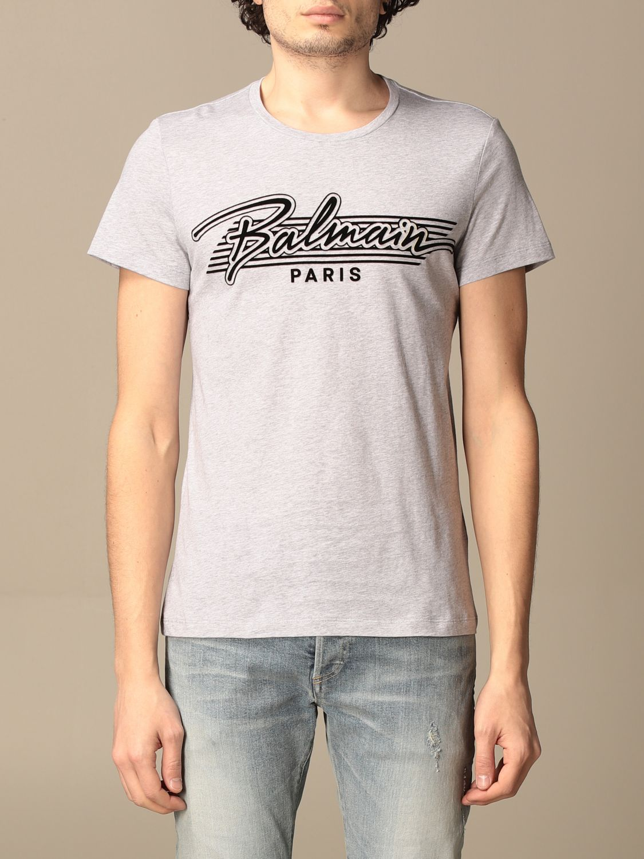 T-shirt Balmain: Balmain cotton t-shirt with logo grey 1