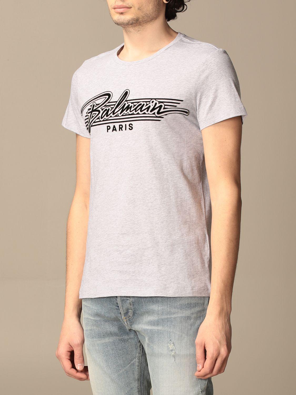 T-shirt Balmain: Balmain cotton t-shirt with logo grey 3