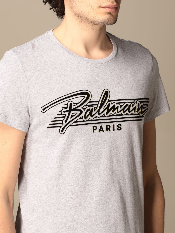 T-shirt Balmain: Balmain cotton t-shirt with logo grey 4