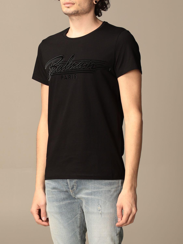 T-shirt Balmain: Balmain cotton t-shirt with logo black 3