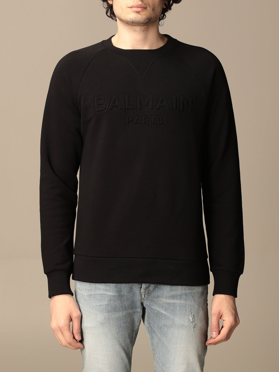 Sweatshirt Balmain: Balmain cotton sweatshirt with logo black 1