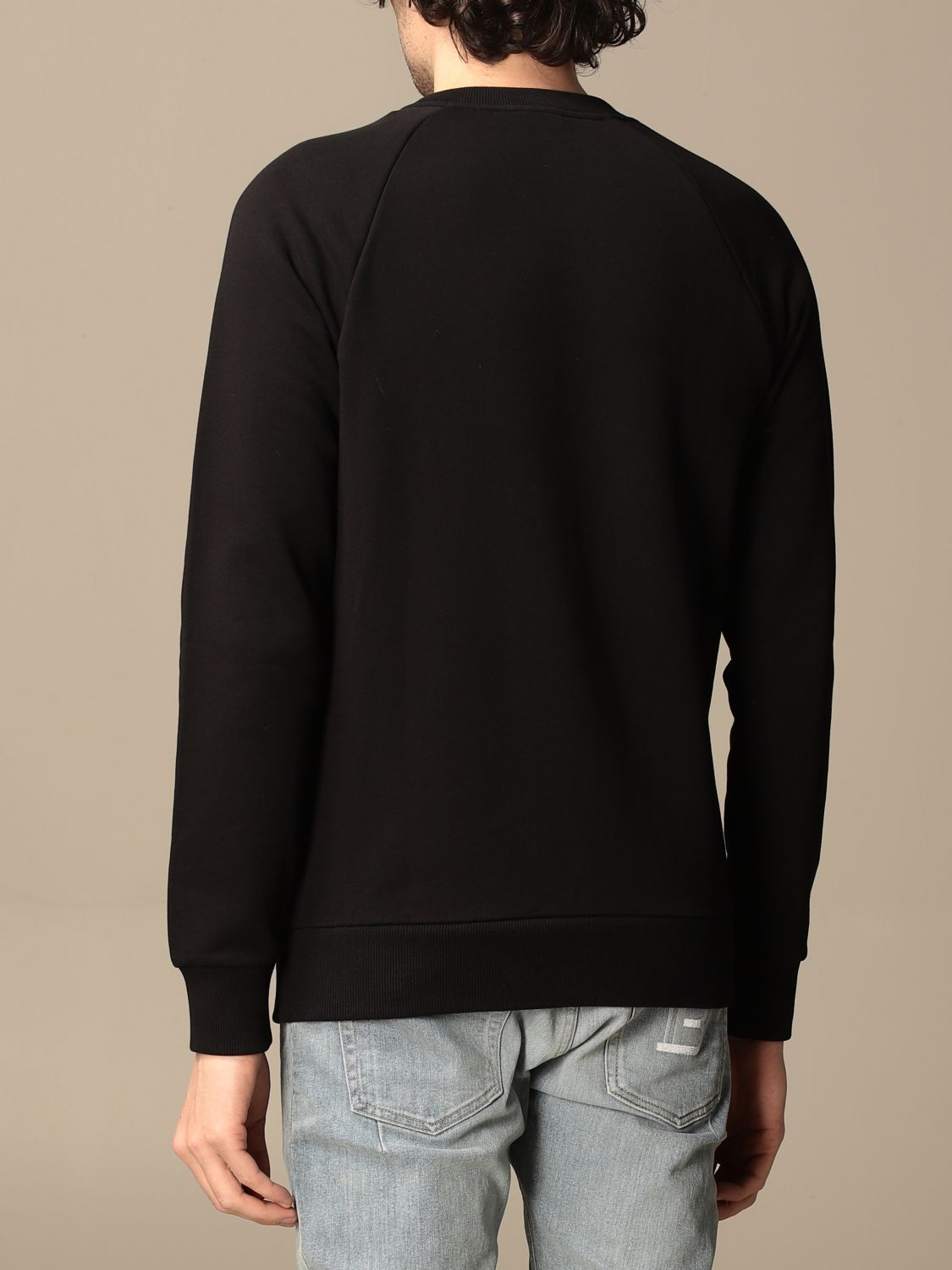 Sweatshirt Balmain: Balmain cotton sweatshirt with logo black 3