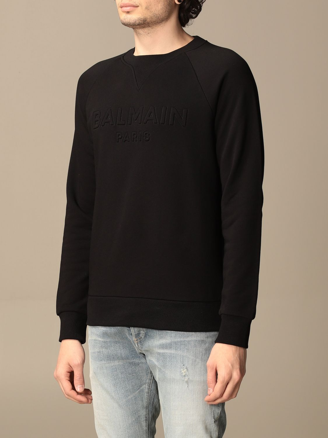 Sweatshirt Balmain: Balmain cotton sweatshirt with logo black 4