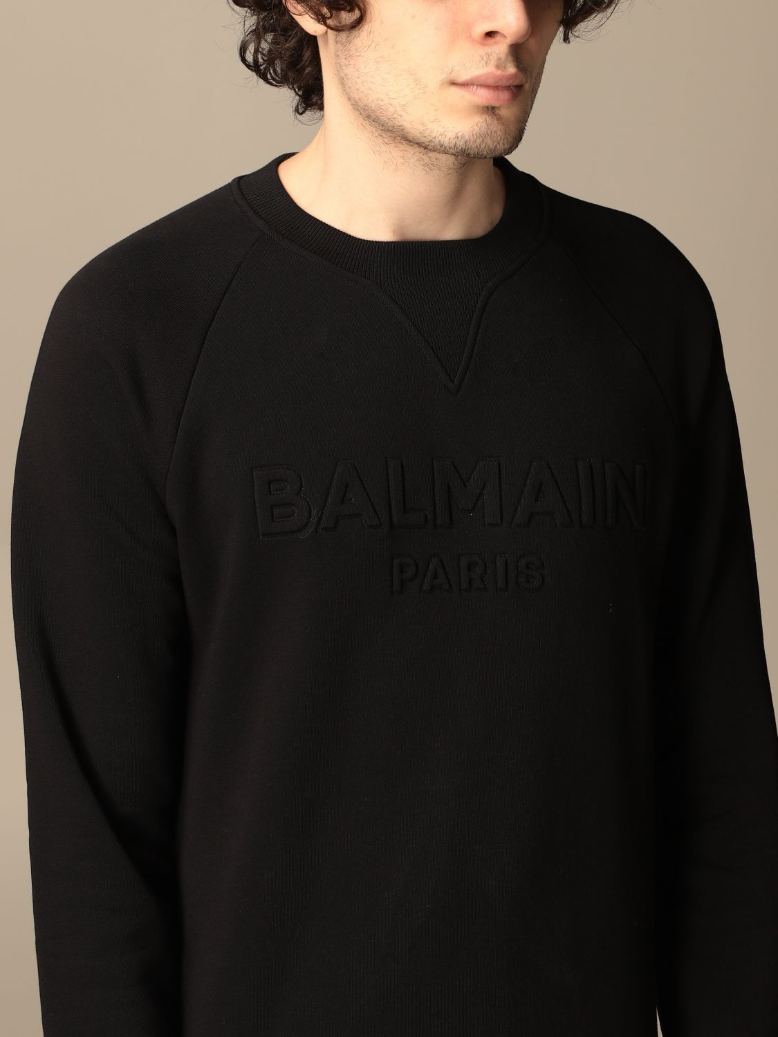Sweatshirt Balmain: Balmain cotton sweatshirt with logo black 5