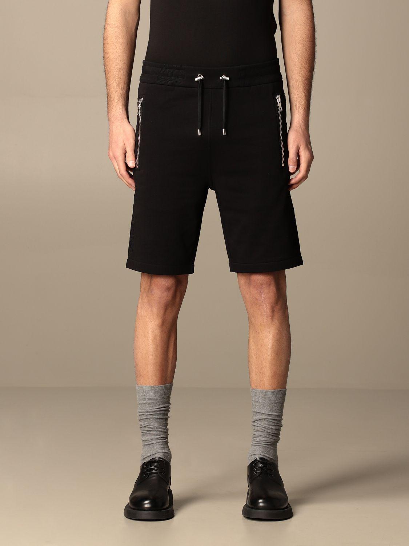 Trousers Balmain: Balmain cotton jogging shorts black 1
