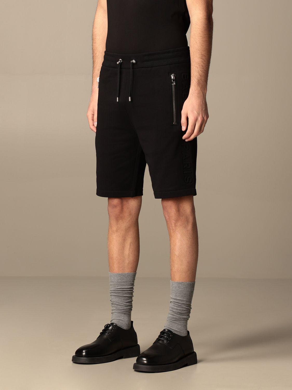 Trousers Balmain: Balmain cotton jogging shorts black 3