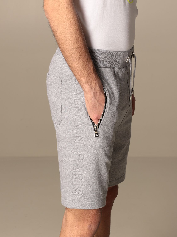 Short Balmain: Pantalon homme Balmain gris 4