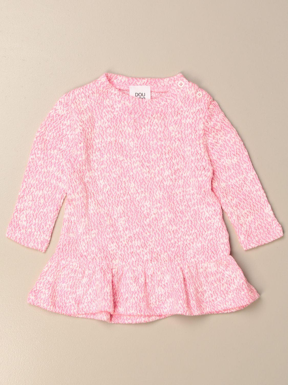 Abito Douuod: Abito in maglia Douuod con scritta posteriore rosa 1
