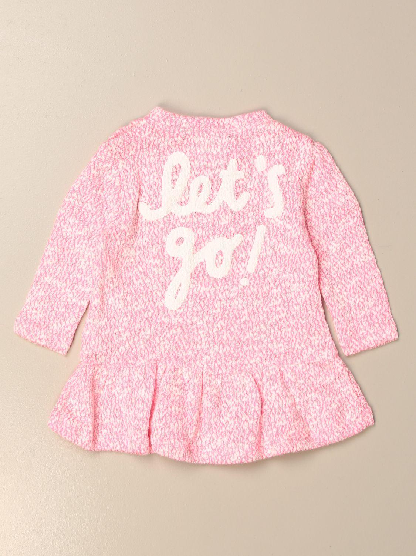 Abito Douuod: Abito in maglia Douuod con scritta posteriore rosa 2