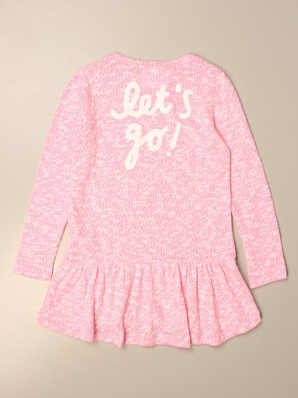 Dress Douuod: Douuod knit dress with back writing pink 2