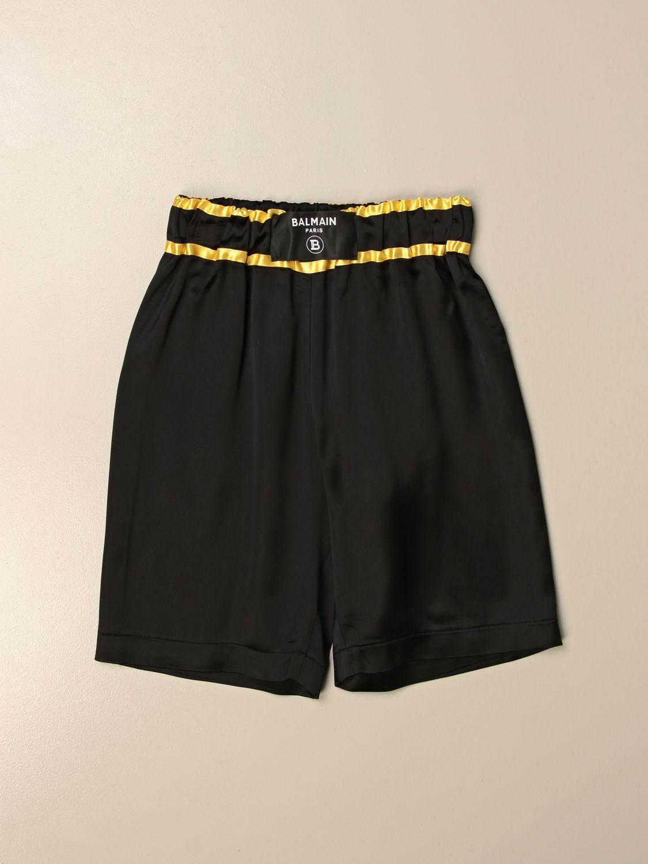 Pantalón corto Balmain: Pantalón corto niños Balmain negro 1