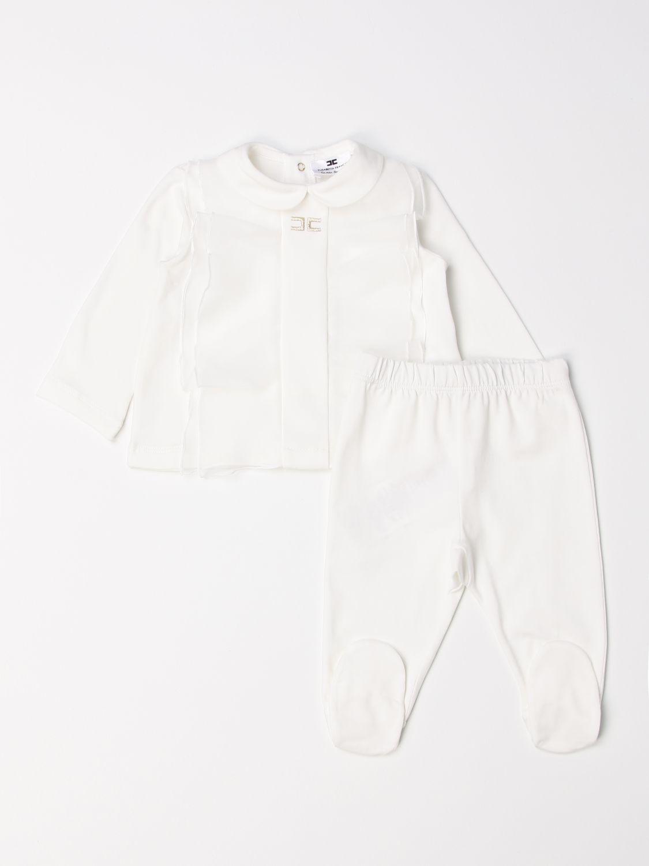 Jumpsuit Elisabetta Franchi: Complete polo shirt + Elisabetta Franchi footed trousers ivory 1