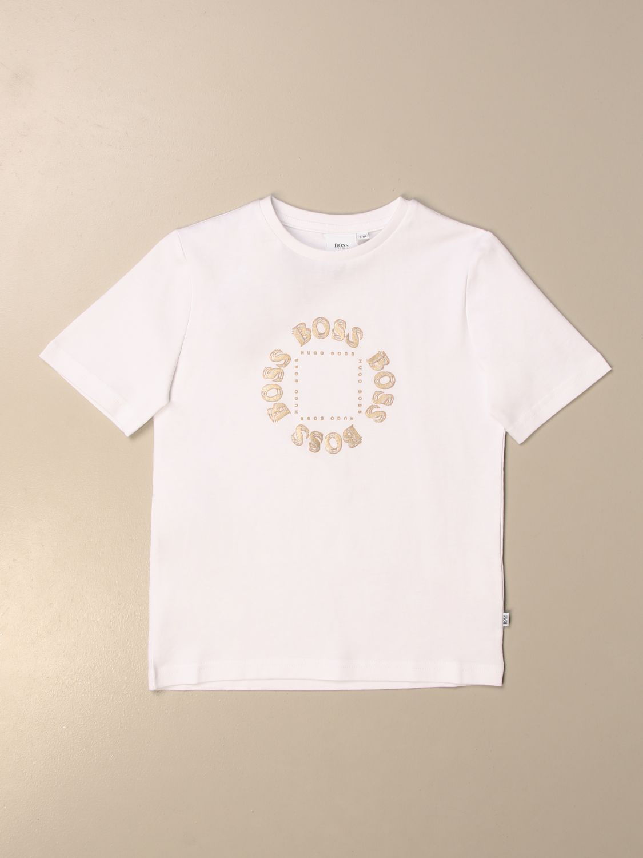 Camiseta Hugo Boss: Camiseta niños Hugo Boss blanco 1