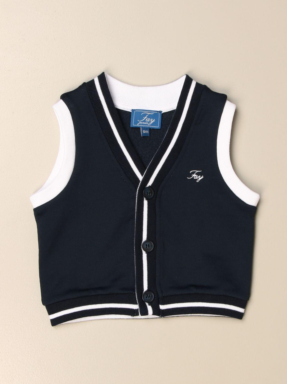 Vestcoat Fay: Classic Fay vest with logo blue 1