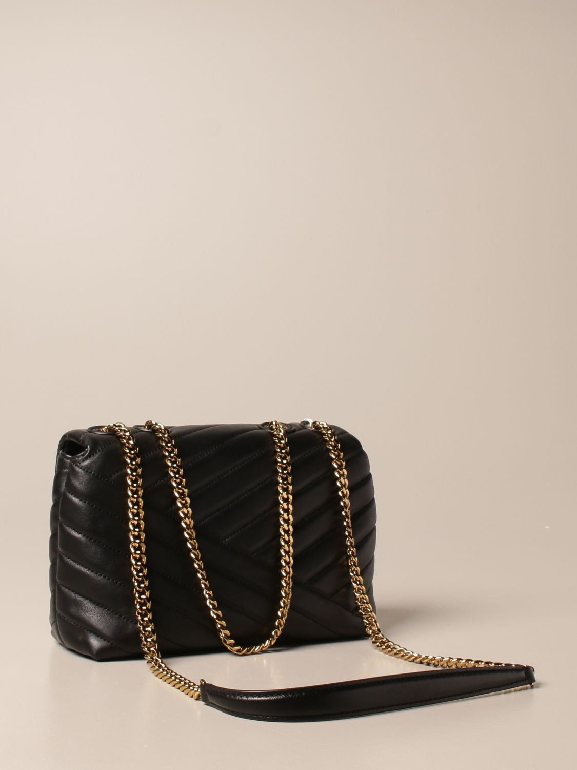 Crossbody bags Tory Burch: Kira Tory Burch bag in quilted leather black 3