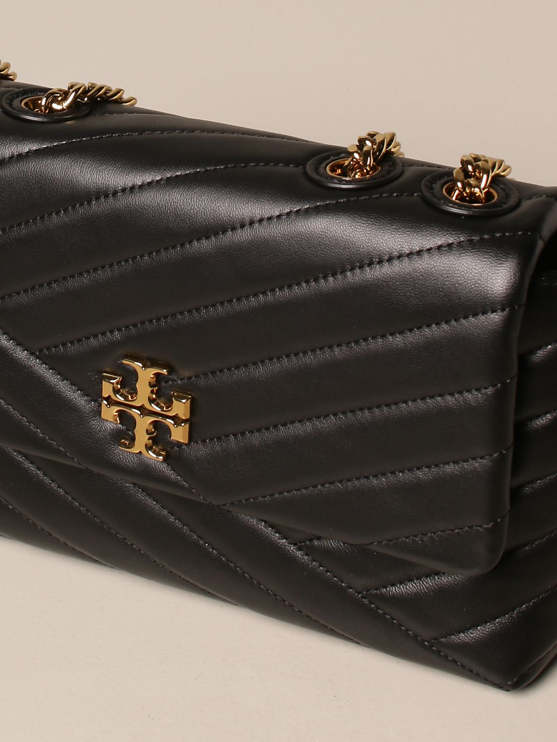 Crossbody bags Tory Burch: Kira Tory Burch bag in quilted leather black 4