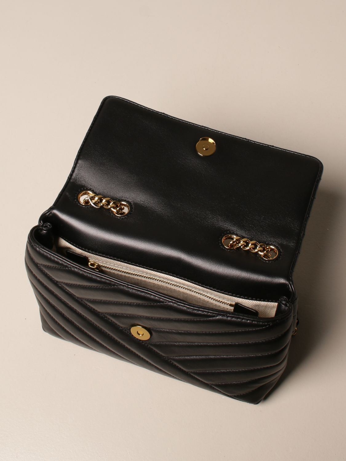 Crossbody bags Tory Burch: Kira Tory Burch bag in quilted leather black 5