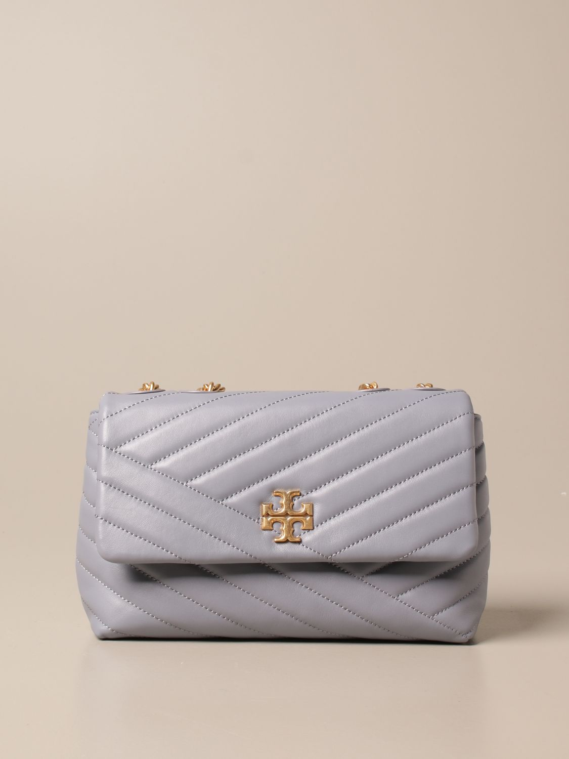 Crossbody bags Tory Burch: Kira Tory Burch bag in quilted leather dust 1